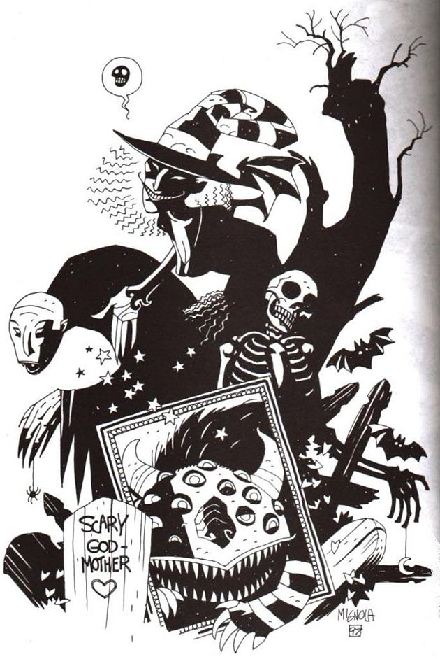 Scary Godmother by Mike Mignola from the collection of Jill Thompson