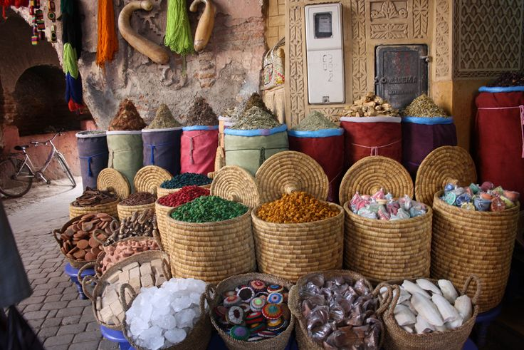 Spices in the medina of #Marrakech