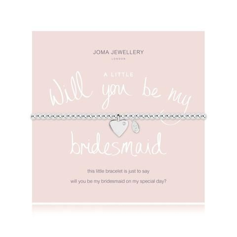 Will you be My Bridesmaid - SILVER PLATED BRACELET