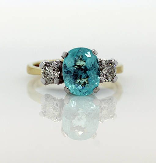 Ladies 2.95ct Paraiba Tourmaline & Diamond Ring by kingstonjewellers on Etsy https://www.etsy.com/au/listing/557267114/ladies-295ct-paraiba-tourmaline-diamond