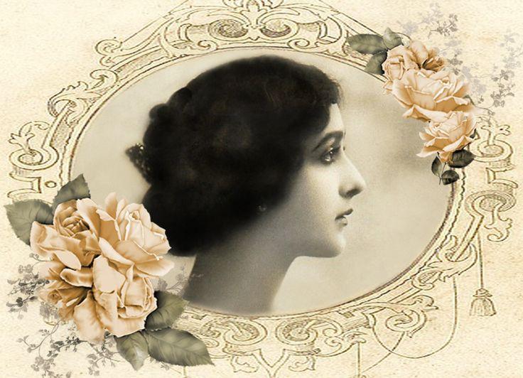 Lina Cavalieri digital collage p1022  Free to use  <3