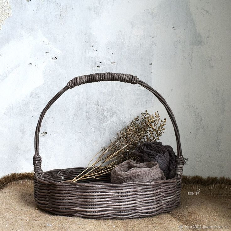 """Купить Плетеная корзина """" Basket Country"""" в деревенском стиле, кантри - винтаж, коричневый"""