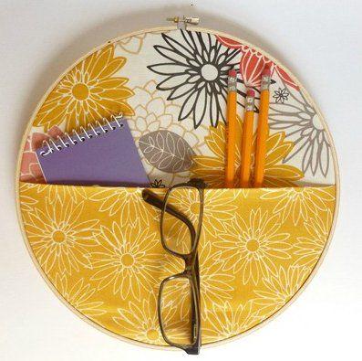 inspiration files--no sew fabric wall pocket organizer from abernathy crafts