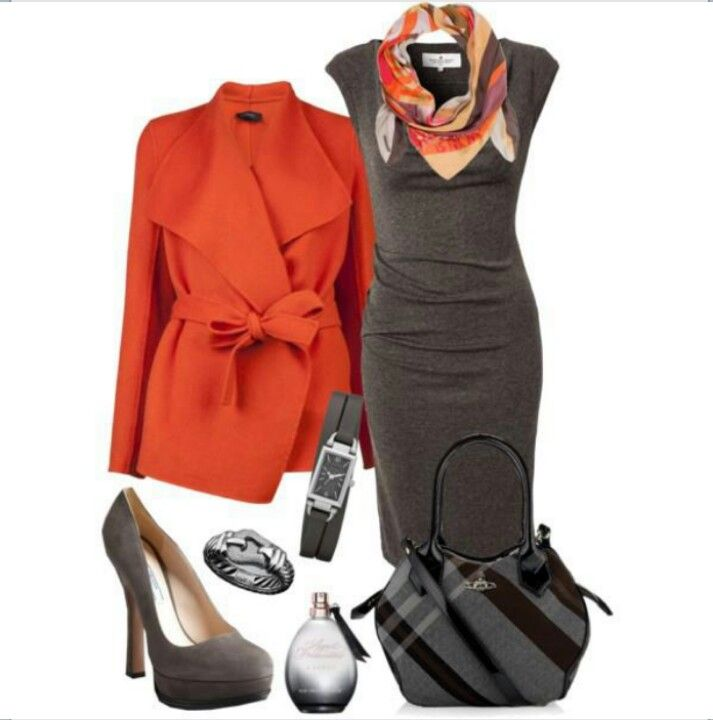 Business attire- only with a mk red jacket!!