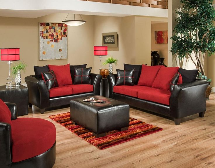 4170-04 Sierra Cardinal Sofa and Love Seat - http\/\/abfathens - black living room set