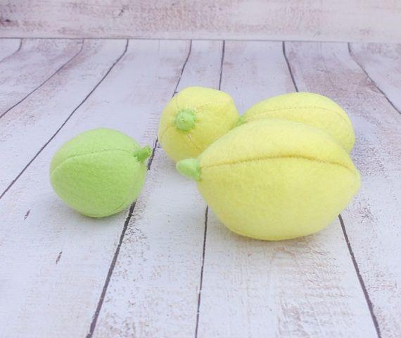 ONE Felt Citrus Lime Farmers Market Pretend Food Felt Fruit