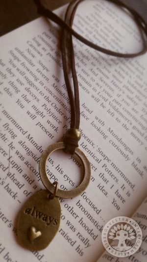 Harry Potter Always Bronze and Leather Necklace by Corinne Jade