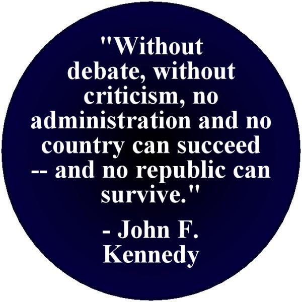 John F. Kennedy Debate Quotes #46297