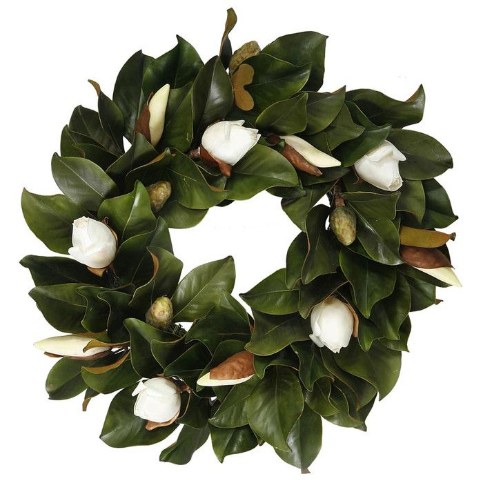 """You'll love the Southern Magnolia 24"""" Wreath at Wayfair - Great Deals on all Décor  products with Free Shipping on most stuff, even the big stuff."""