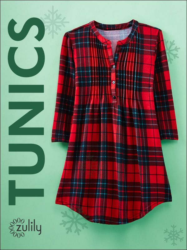 Sign up today to discover effortlessly flattering Tunics at prices up to 70% Off! Huge selection with new styles added each and every day! Build your stylish wardrobe at zulily.com!