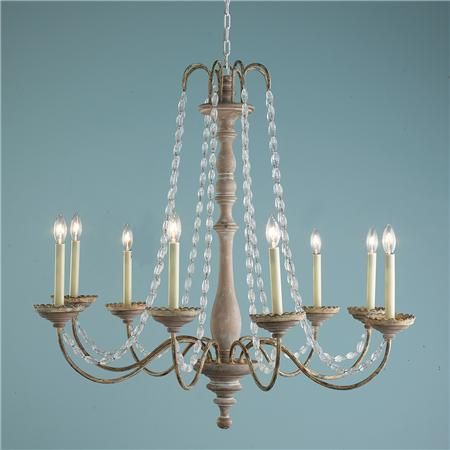 Crystal Swag And Wooden Spindle Chandelier 8 Light 749 Lighting Pinterest Chandeliers