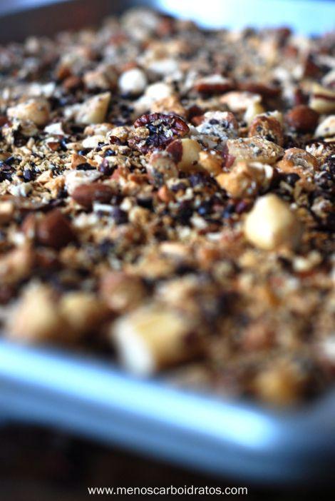 Granola sem carboidratos - Mais Gordura Menos Carboidratos