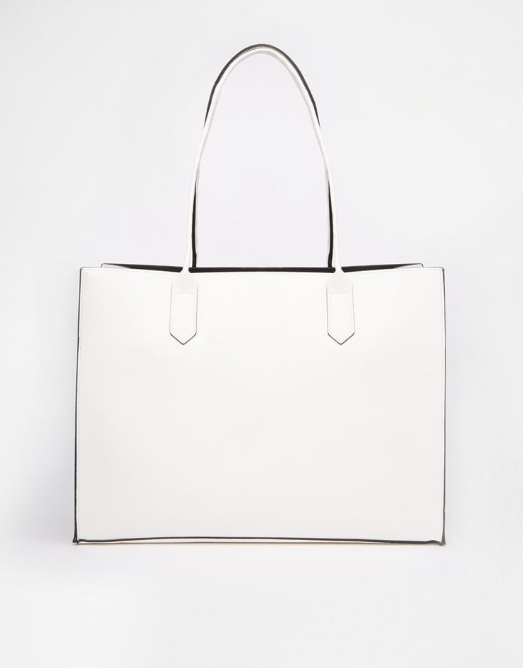 Image 1 ofASOS Structured Shopper Bag with Removable Clutch