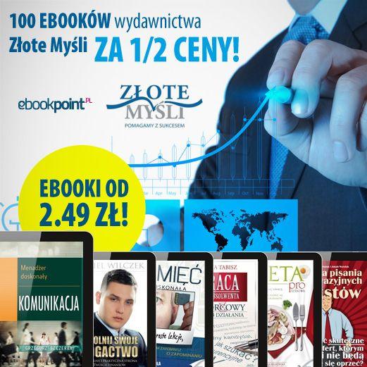 100 ebooków wydawnictwa Złote Myśli za 1/2 ceny!  #zlotemysli #złotemyśli #ebooki #kindle
