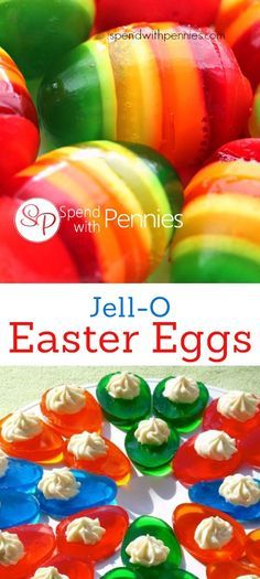 Jello Easter Eggs are a fun and easy jigglers treat for kids! Recipes and creative ideas for making Jell-O fun food treats.