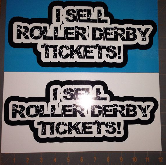 Large Car Magnet I Sell Roller Derby Tickets by Rrrshop on Etsy, $14.00