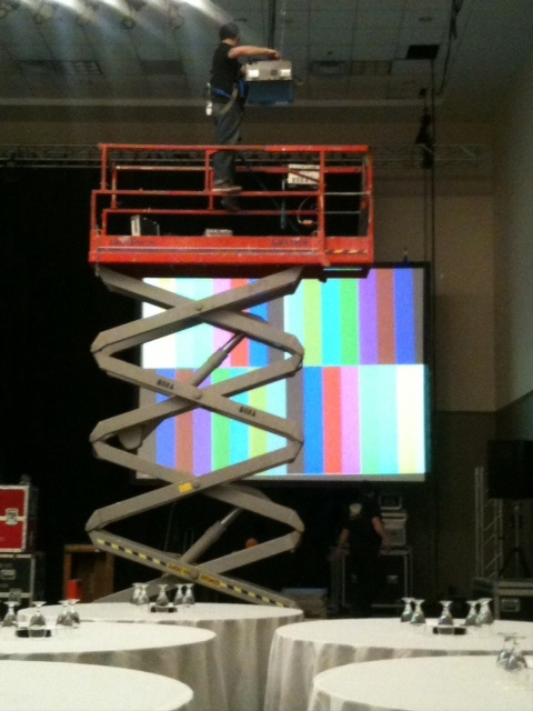 Stage 11: Line up projectors to screens and test image(s)