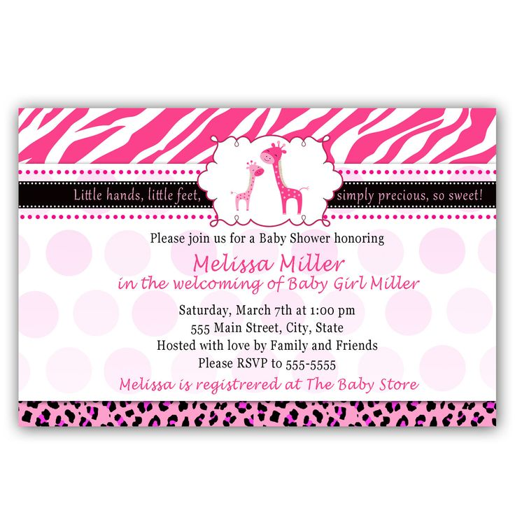 Printable Personalized Lovely Hot Pink Giraffe Baby by pinkthecat, $12.99