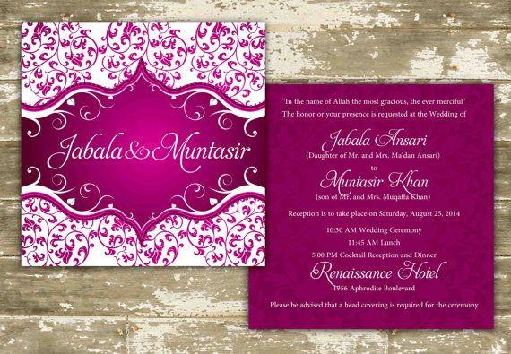 Customizable Indian Wedding Invitations on Etsy, $2.40 CAD