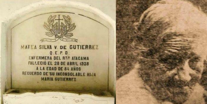 Cantinera Matea Silva de Gutierrez, fue esposa del soldado Manuel Gutiérrez. Ella perteneció a la primera compañía del primer batallón del Regimiento Atacama. Prestó sus servicios en la ambulancia de la unidad. Se encuentra sepultada en el Mausoleo de los Veteranos de 79 de Antofagasta