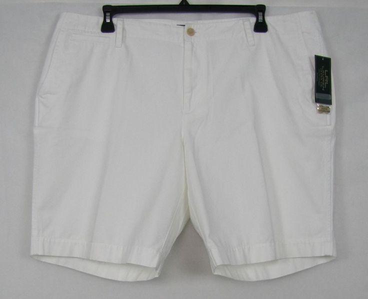 LRL Lauren Jeans Co. Shorts Women's Cotton White Shorts Plus Size 20W NEW #LRLLaurenJeansCo #BermudaWalking 24.99