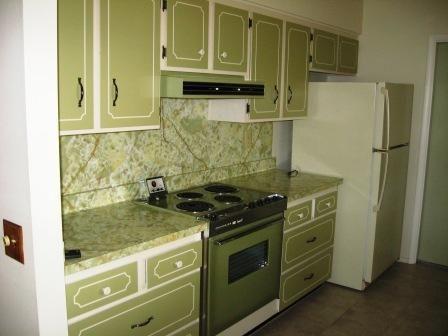 vintage original good condition 1974 kitchen cabinets oven Sun City Arizona home house photo