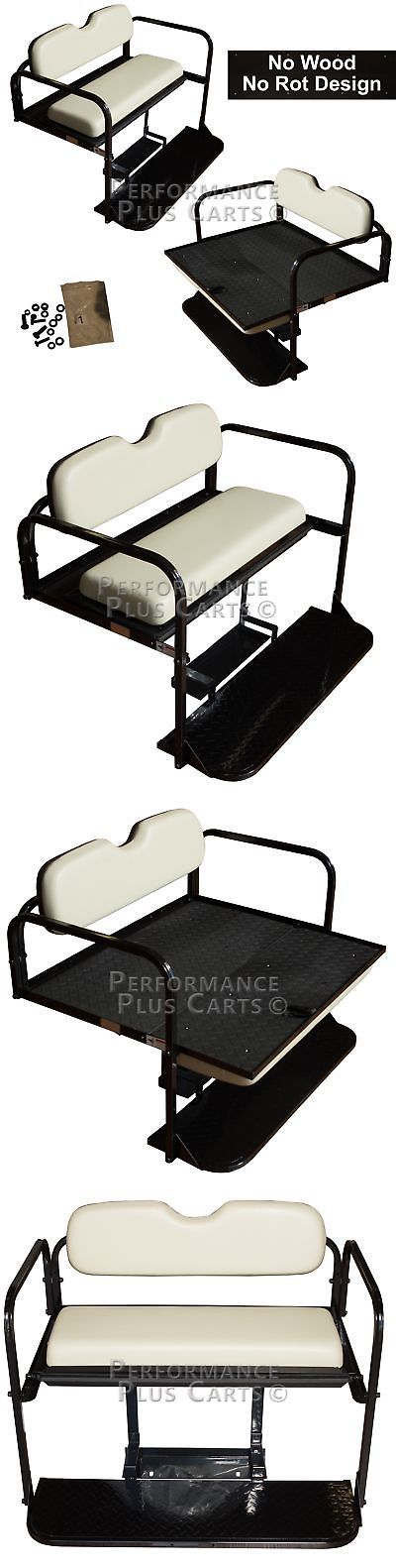 Push-Pull Golf Carts 75207: Yamaha Drive G29 Golf Cart Flip Folding Rear Back Seat Kit - Stone Cushions -> BUY IT NOW ONLY: $249.95 on eBay!