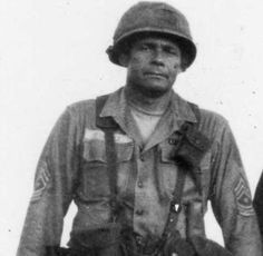 USA Army Command Sergeant Major Basil Plumley, 50+ year combat veteran of WWII, Korea, and Vietnam. He fought only with a Colt 1911 because he believed the M16 had too much plastic and not enough wood and steel. Among his many accomplishments, he led a bayonet charge against enemy forces outnumbering his unit 5 to 1 in the Ia Drang Valley, killing over twenty-five communist soldiers.