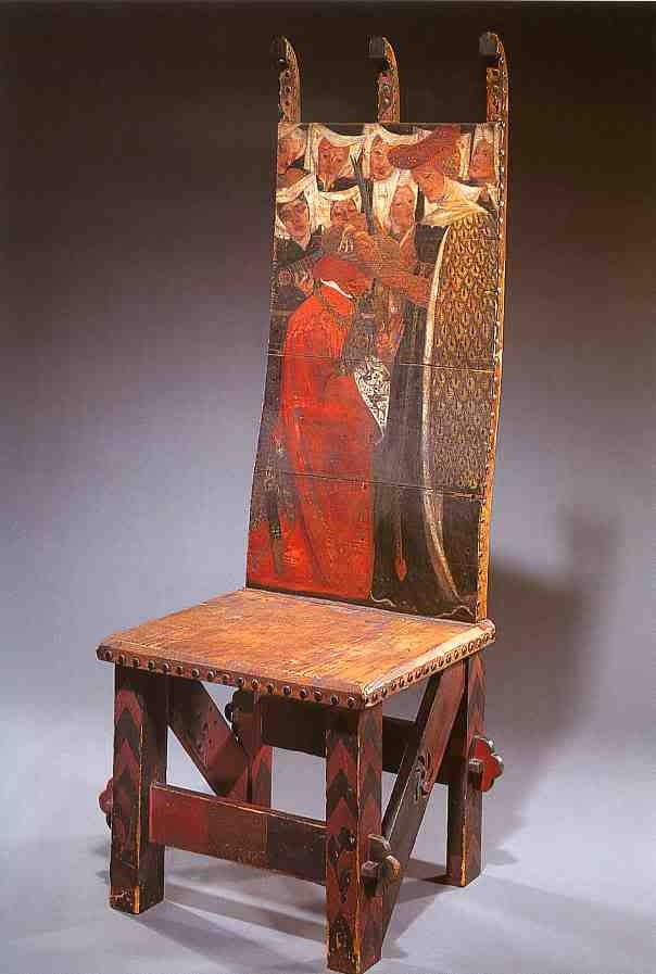 Chair Designed By William Morris And Painted By Dante