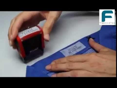 Sello DIY marcador de ropa Printy textil Typo