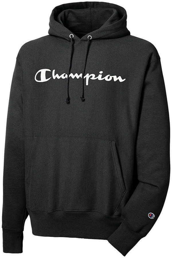 "New Black Champion Sweatshirt  Reverse Weave  /""Champion/"" LOGO Heavyweight"