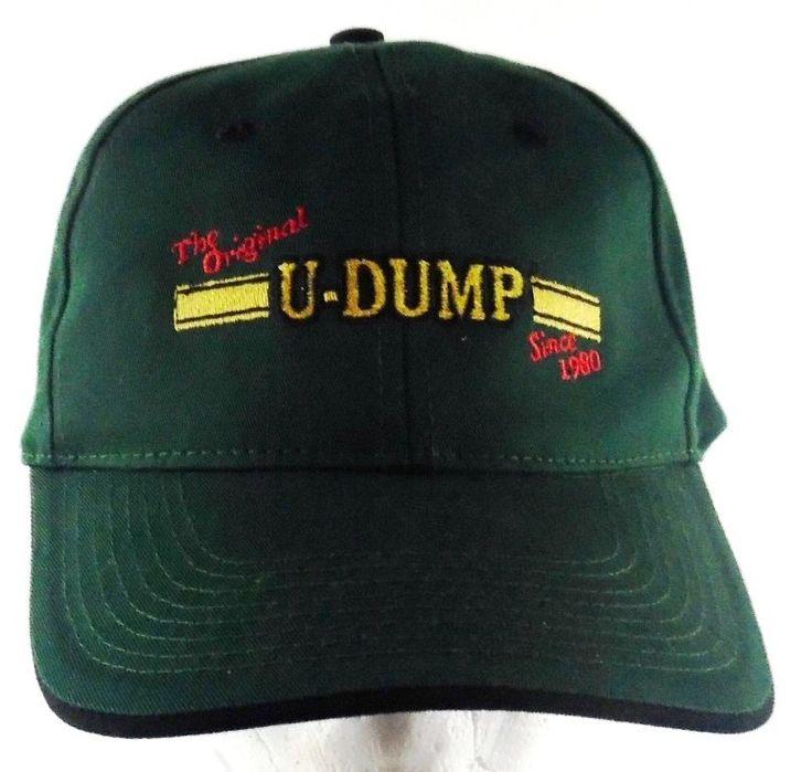 The Original U-DUMP Since 1980 Velcro Strap Adjustable Green Hat Cap Ocala FL…