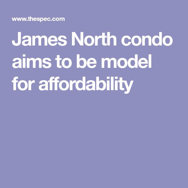 James North condo aims to be model for affordability