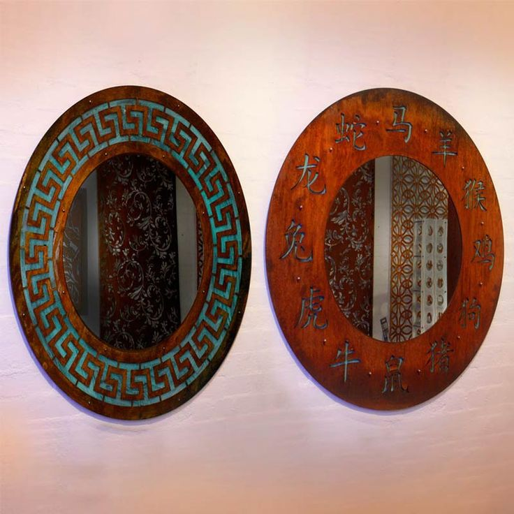 Large Corten Mirrors in Greek and Asian Designs --- by PLR Design, Melbourne