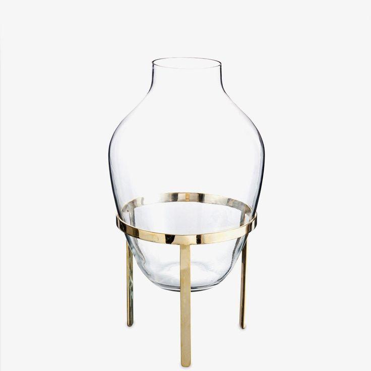 Stor vase med messingholder | Bolina Interiørbutikk + Møbler, Klær og Accessories – Bolina.no