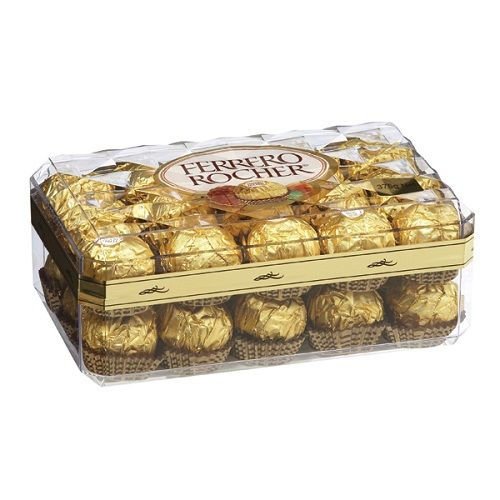 A bulk box of 3 trays of Ferrero Rocher 30 Pieces chocolate.