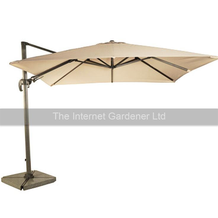 Bramblecrest Chichester Sand 3m Square Rotating Cantilever Parasol | Internet Gardener