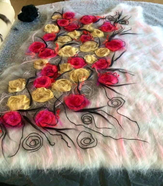 wool felt tunic  by Nadin Smo design.  www.nadinsmo.com #nunofelting #merinowool…