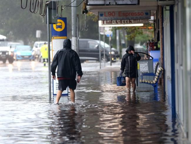 Sydney wild weather: Roads closed, residents evacuated as east coast low intensifies   DailyTelegraph