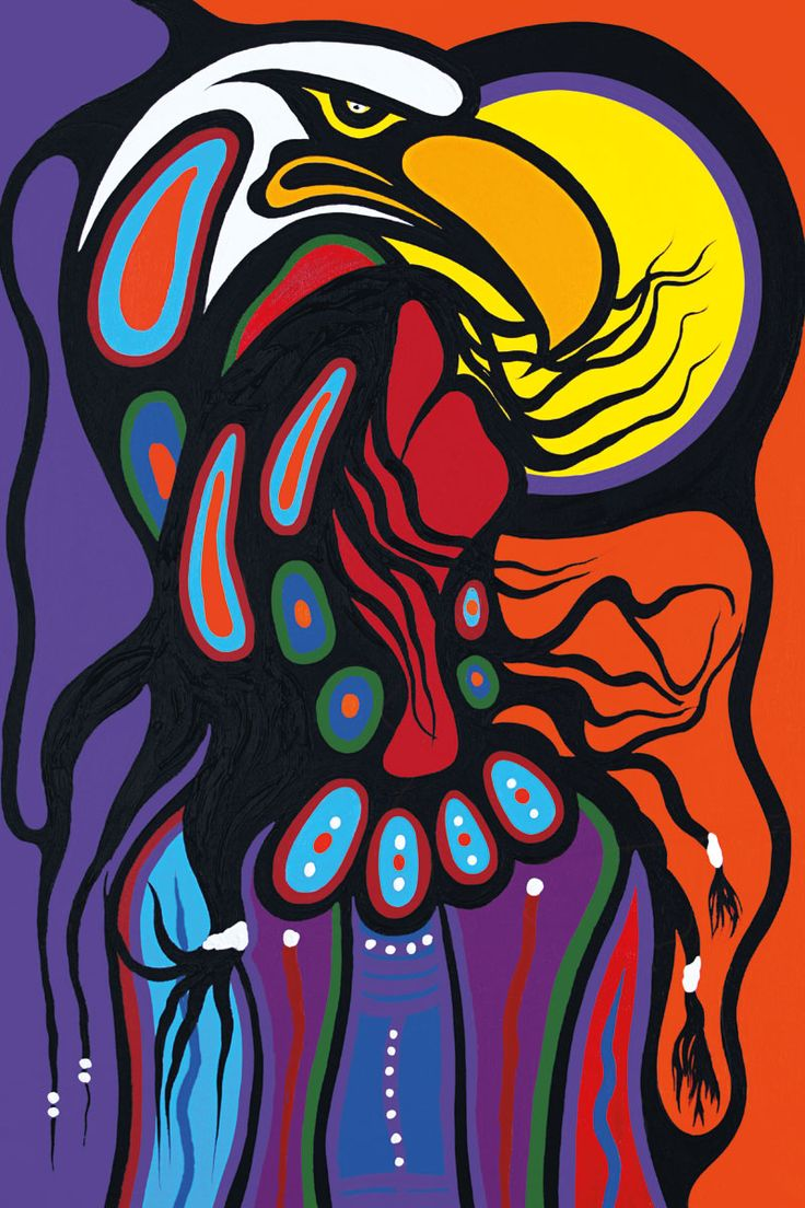 Sacred Shaman by Frank Polson. Cultural Background: Algonquin, Long Point First Nations, QC