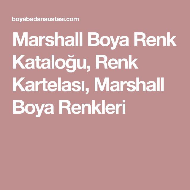 Marshall Boya Renk Kataloğu, Renk Kartelası, Marshall Boya Renkleri
