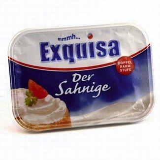 """Markenprodukt: """"Exquisa Frischkäse"""" - No-Name vs. Markenprodukt: Welche Marke steckt dahinter? - © Ralf-Michael Wagner, Frank Flamme ...bekommt die adäquate Qualität, als ob er zum Marken-produkt """"Exquisa"""" greifen würde. Sie stammen aus dem gleichen Produktions-betrieb..."""