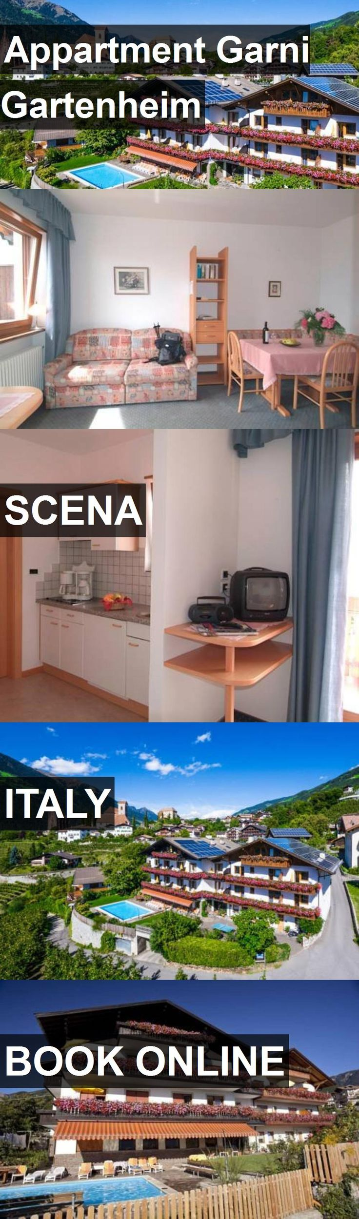 Hotel Appartment Garni Gartenheim in Scena, Italy. For more information, photos, reviews and best prices please follow the link. #Italy #Scena #travel #vacation #hotel