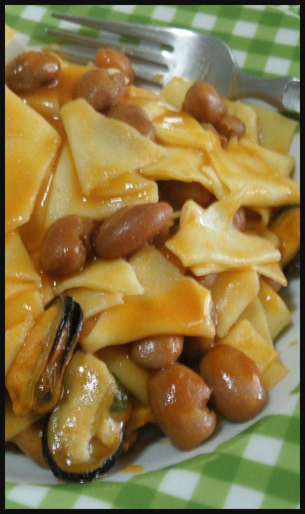 Maltagliati cozze e fagioli , troppo buoni ! #maltagliati #primidipesce  #ricettegustose #ricettegustoseprimi  #ricettegustosepesce