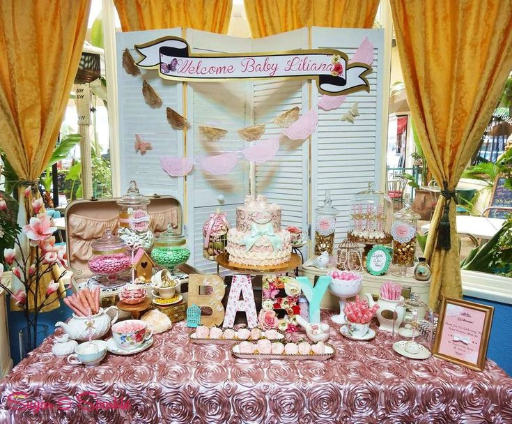 Shabby Chic Tea Party Candy Buffet www.MadamPaloozaEmporium.com www.facebook.com/MadamPalooza