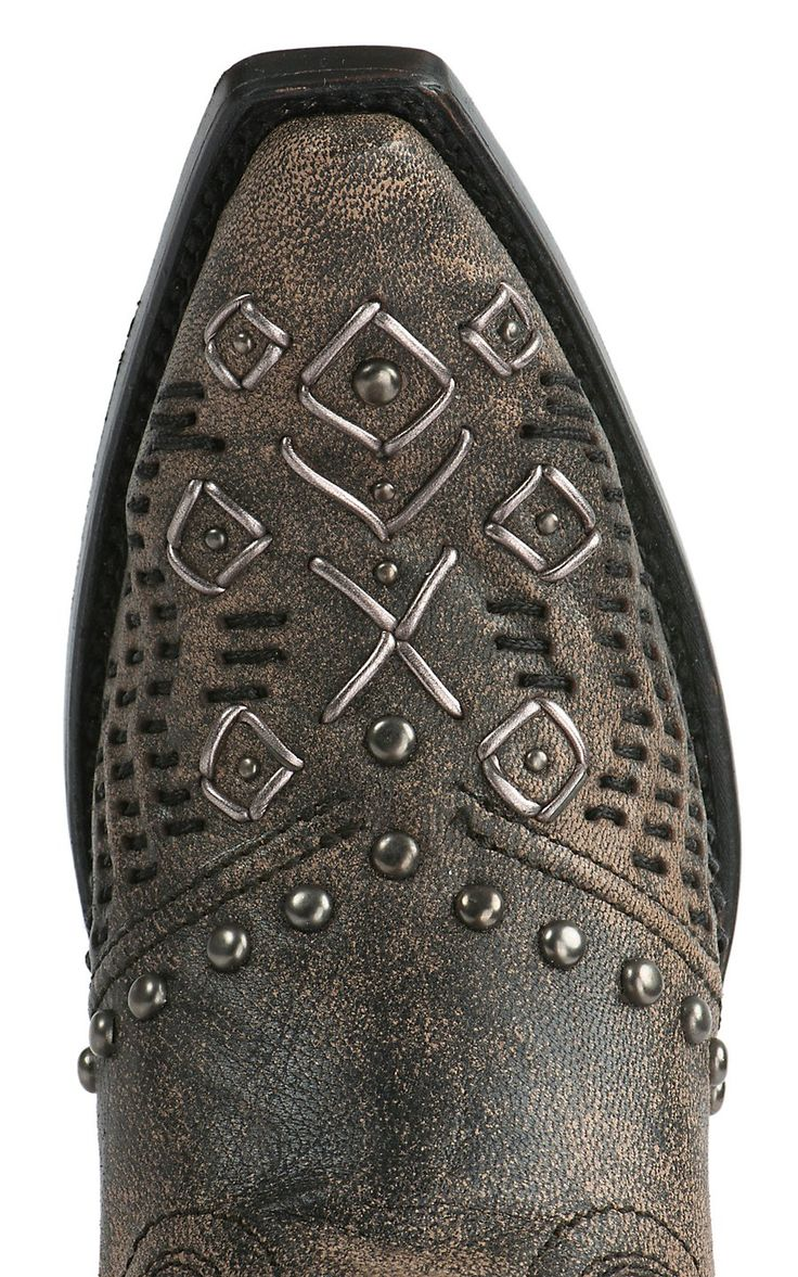 Corral Women's Vintage Sahara Sand & Black Woven with Studs Snip Toe Western Boot | Cavender's