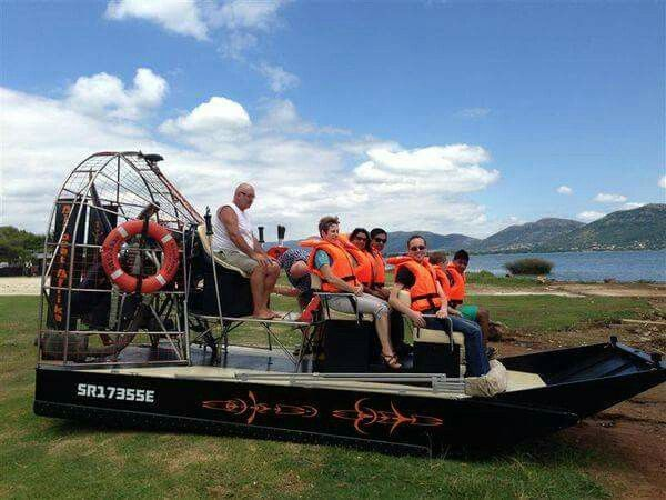 Personalized Day Trips / Tours - Airboat - Hartbeespoort Dam - Join SAMSA certified skippers to enjoy a fun ride and the rush of the slide as you take in the sights along Gauteng's most popular playground. #travel #holiday #vacation #tourist #wildlife #southafrica #photosafari #tourism #extremefrontiers #daytrip