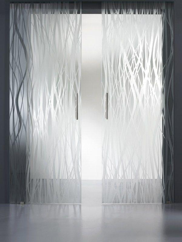 Vidrio decorado flotado MADRAS® FILI MATE' DOUBLE FACE Colección Madras® Décor by Vitrealspecchi | diseño Ivo Pellegri
