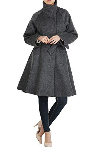 Hipsteration Womens Funnel Collar Wrap Coat With Belt Beige, M Hipsteration http://www.amazon.com/dp/B01AS61M6Q/ref=cm_sw_r_pi_dp_E3eOwb18H55NV