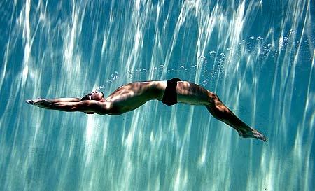 Mon activité est la natation